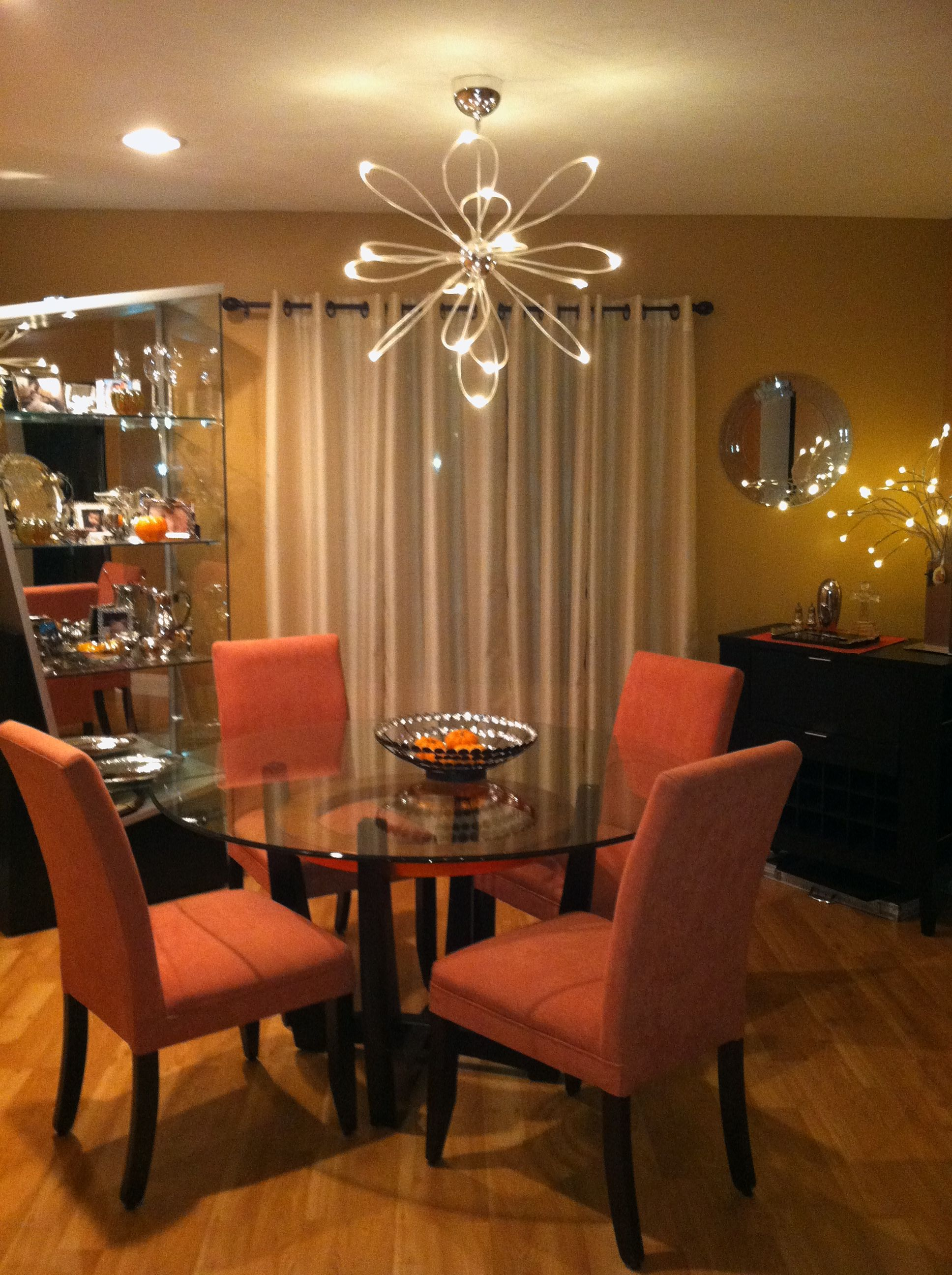 Funky Lighting Fun Dining Room Table Chairs Simple Curtains My House