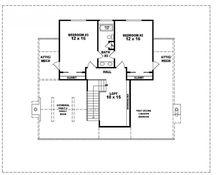 654063 One And A Half Story 3 Bedroom 2 5 Bath Country Style House Plan Farmhouse Style House Plans Floor Plans Country Style House Plans