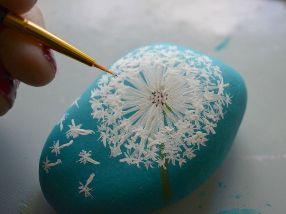 Craft Lightning | How To Paint a Dandelion Wish Ro