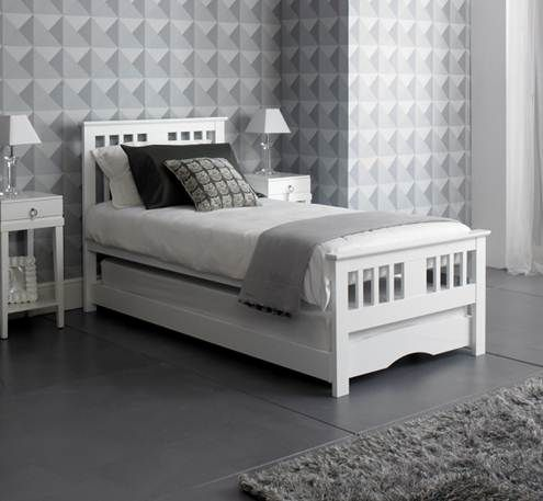 White Gloss 3ft Single Pull Out Guest Bed