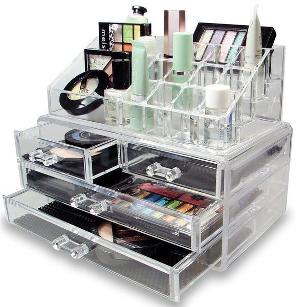 Make your organization resolution easier with this makeup display