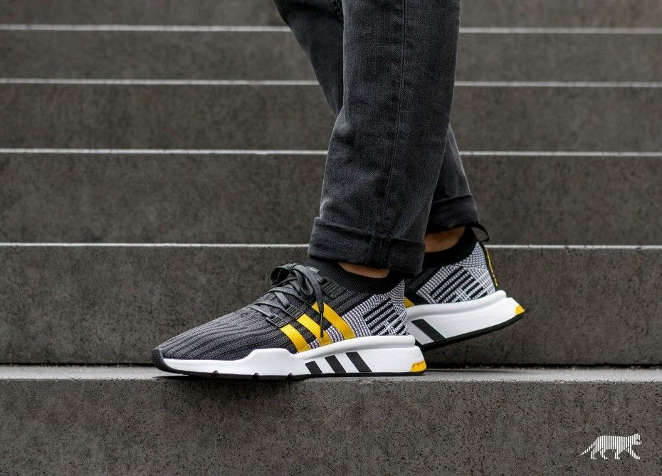 2112e03a4a4b adidas EQT Support Mid ADV PK Black Yellow in 2019