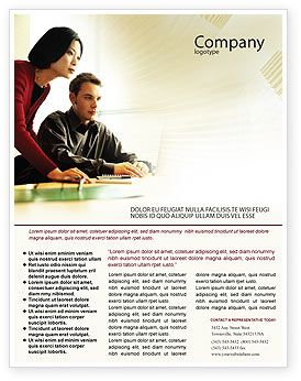 consulting brochure template - teaching a computer literacy business consulting session