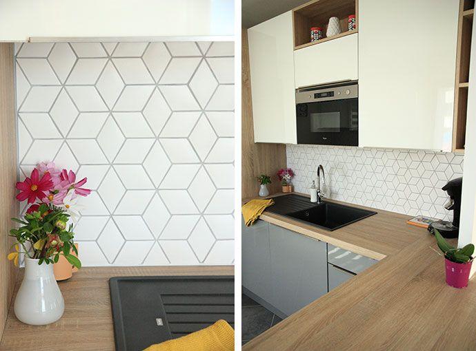 carreaux losanges avec c t s de 6 cm coloris en blanc satin 2s cuisines kitchens en