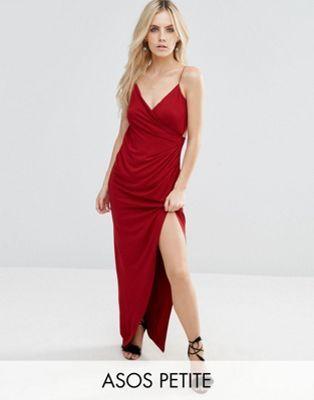 987b91ecf282 ASOS PETITE Drape Cami Maxi Dress   dress   Pinterest