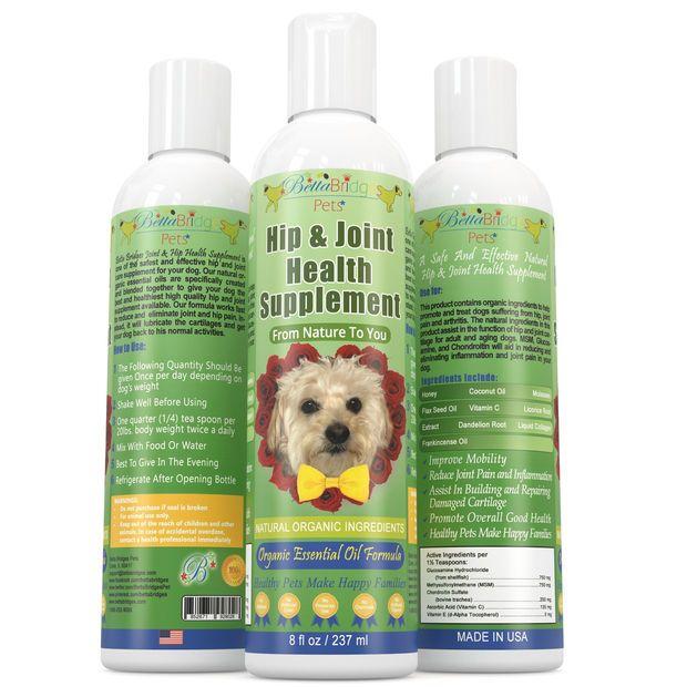 Betta Bridges Pets Dog Glucosamine Msm Chrondroitin Joint Hip