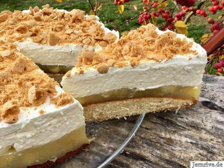 Apfel-Tiramisu-Torte - Aus meinem Kuchen und Tortenblog #schnelletortenrezepte
