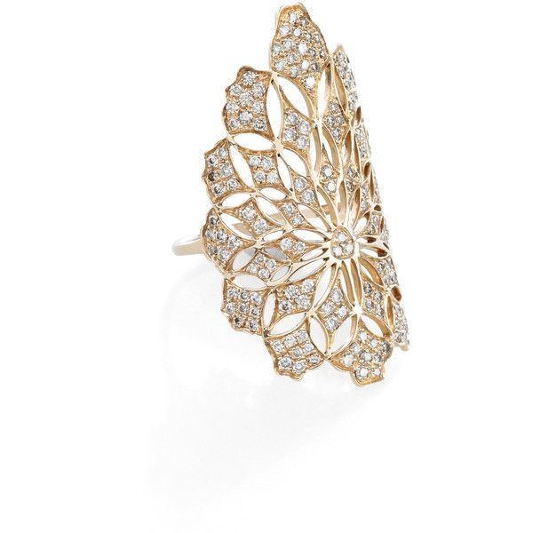 Gaydamak Koral Brown Diamond Ring ($6,115) ❤ liked on Polyvore