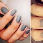 simple gorgeous winter nails matte grey silver
