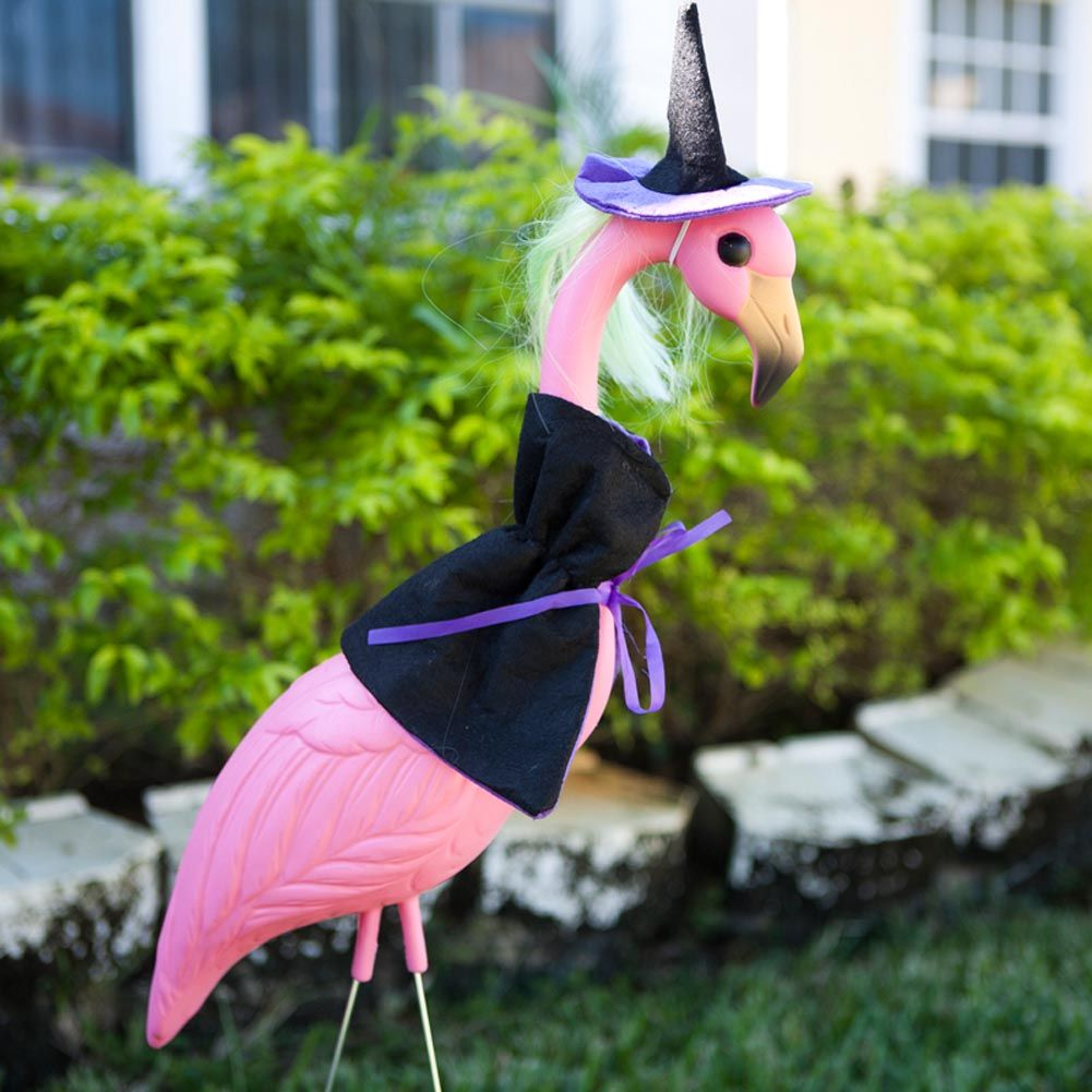 Witch Flamingo Yard Ornament, if Jessica ever hosts the Witches Tea ...
