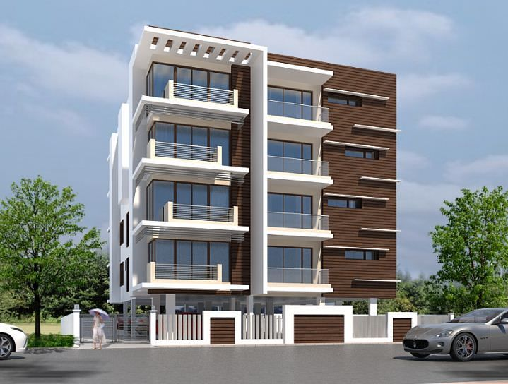 Front Elevation Designs Of Apartments : Image result for front compound wall elevation design