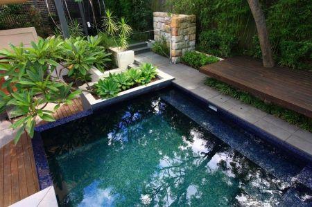 Petit jardin avec piscine avant   après°° Small pools, Mini pool