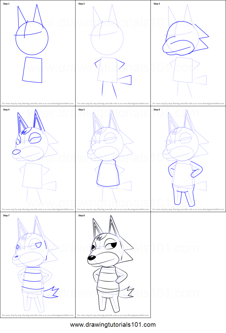 How to Draw Chief from Animal Crossing Printable Drawing