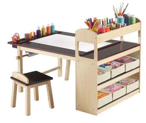 Escritorio infantil y centro de juegos y trabajo ...