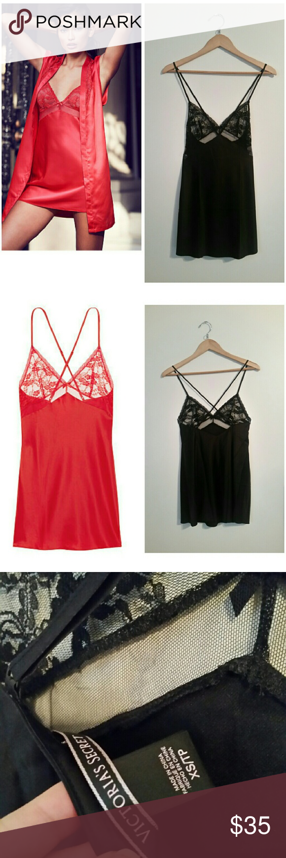 Nwot very sexy black slip New with no tags  Size xs  Lace in the bust. Victoria's Secret Intimates & Sleepwear Chemises & Slips