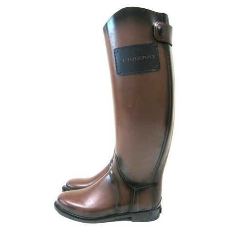 burberry brown rubber boot | rare-burberry-sienna-brown-rubber ...