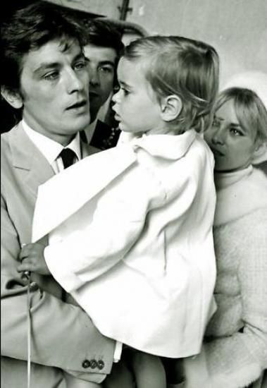 Alain Et Nathalie Delon Et Anthony Delon Alain Delon Celebrity Families Actors