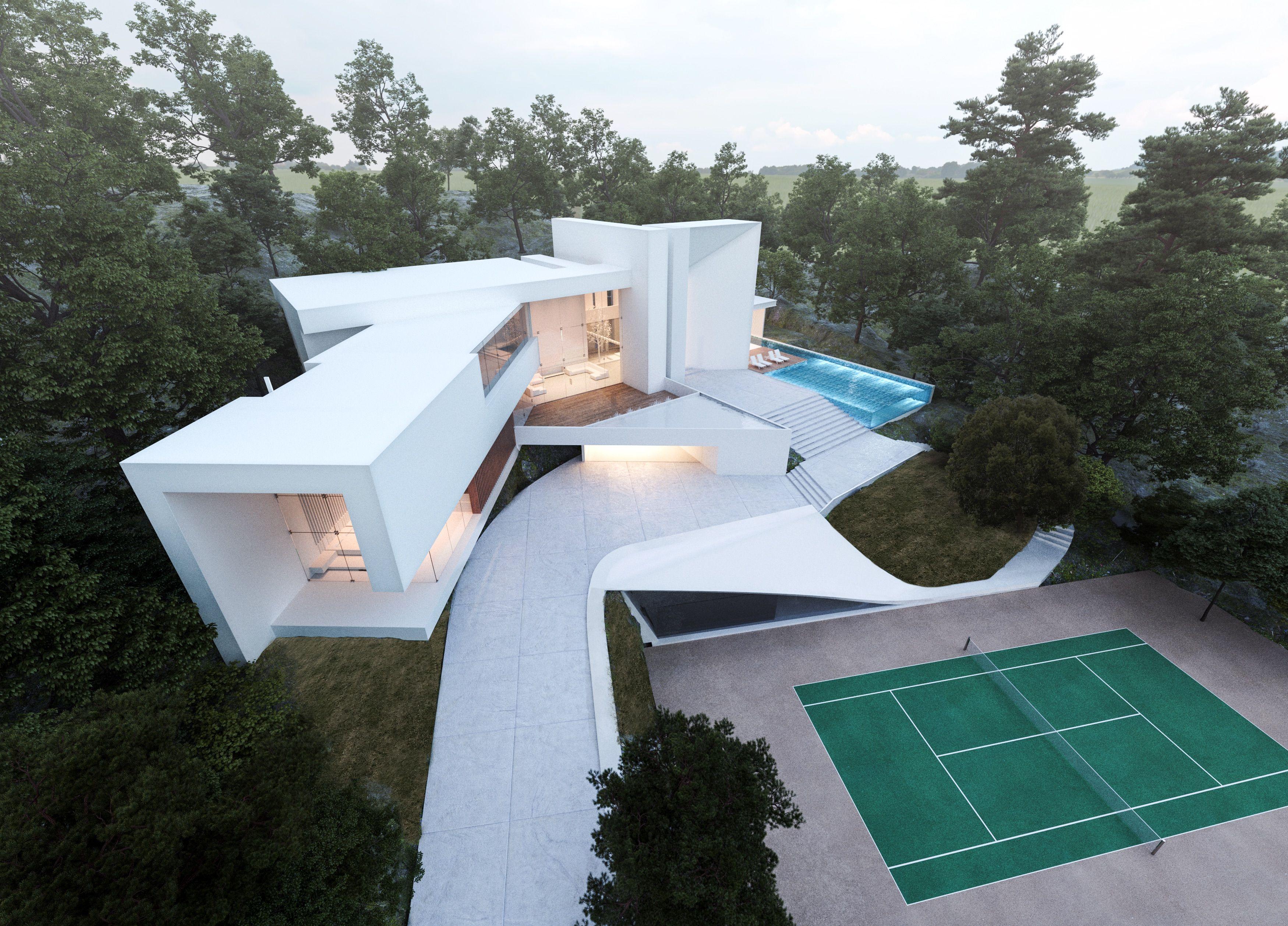 Creato villa luxe dubai facades architecture for Villa de luxe moderne