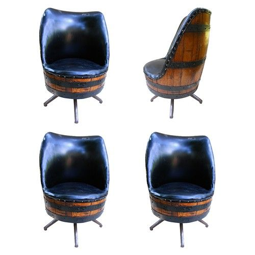 Quot Man Cave Quot Whiskey Barrel Chairs For The Home