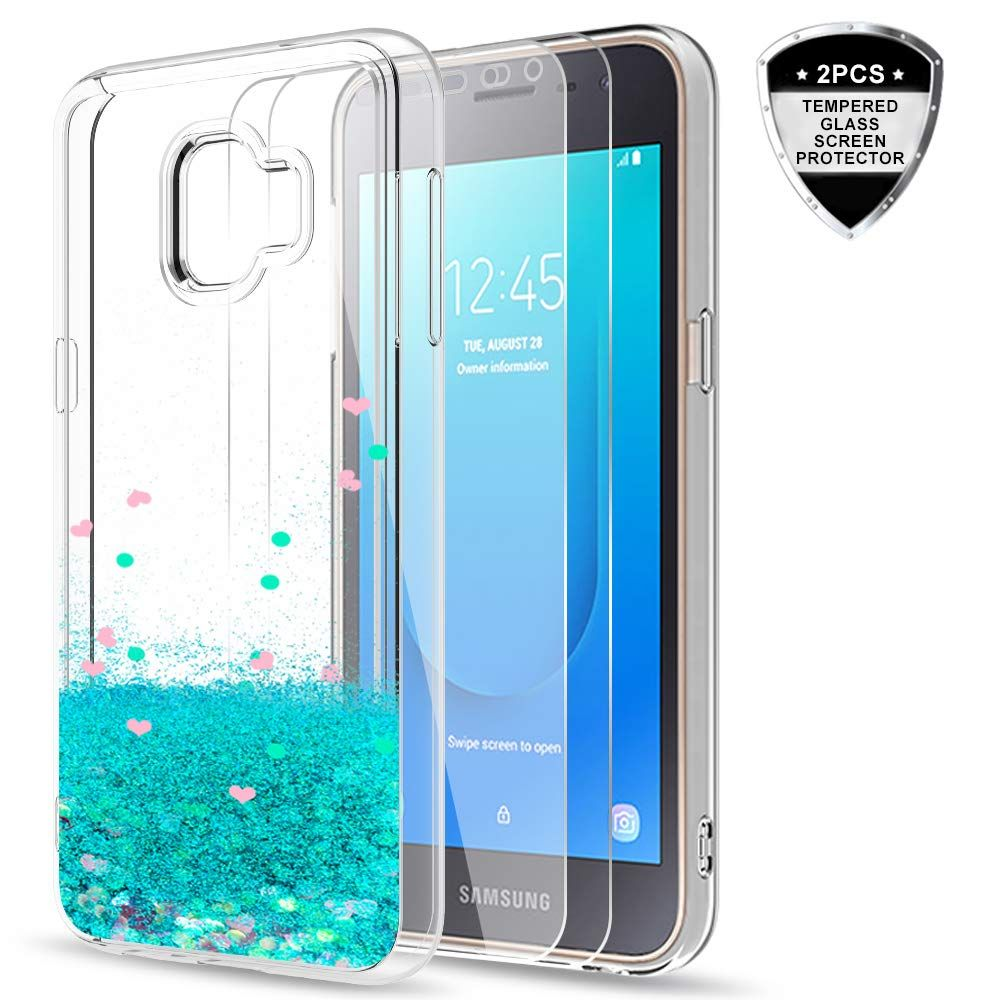 Galaxy J2 Core Case With Tempered Glass Screen Protector 2 Pack For Girls Women Phone Cases Protective Tempered Glass Screen Protector Glass Screen Protector