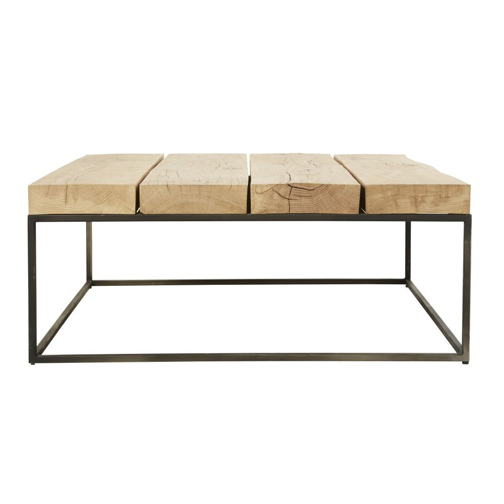 Tavolini Salotto Maison Du Monde.Tavolino Da Salotto Quadrato In Legno Massello Di Quercia E