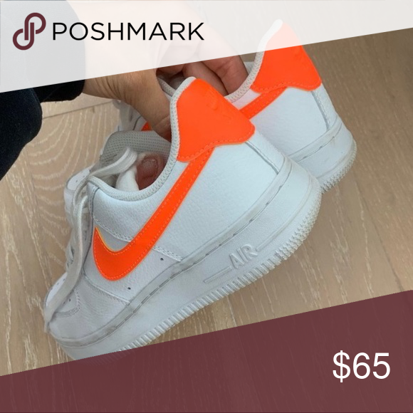 orange swoosh nike af1 will be cleaning