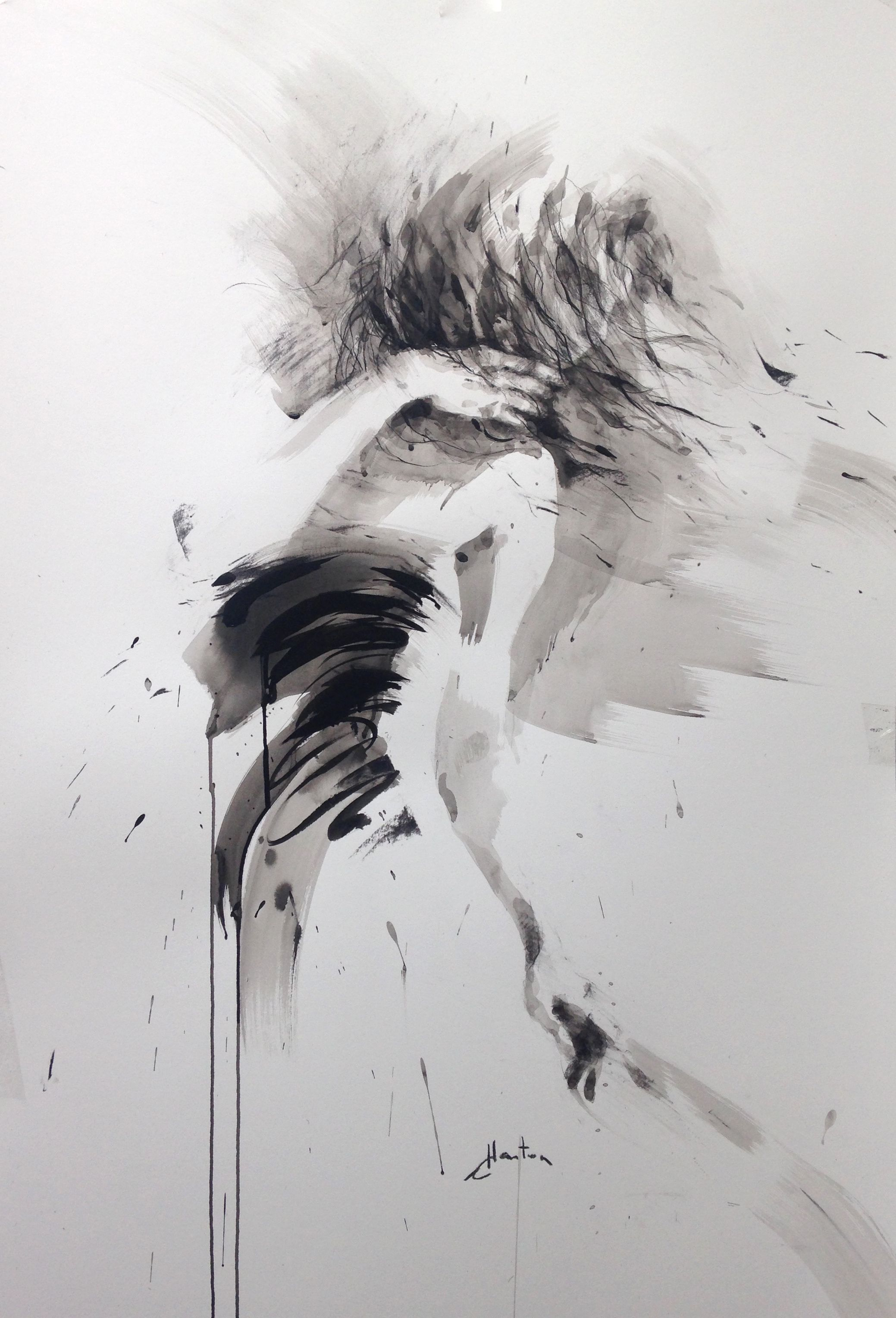 Ewa Hauton Ink On Paper 70x100cm Painting Charcoal Drawing
