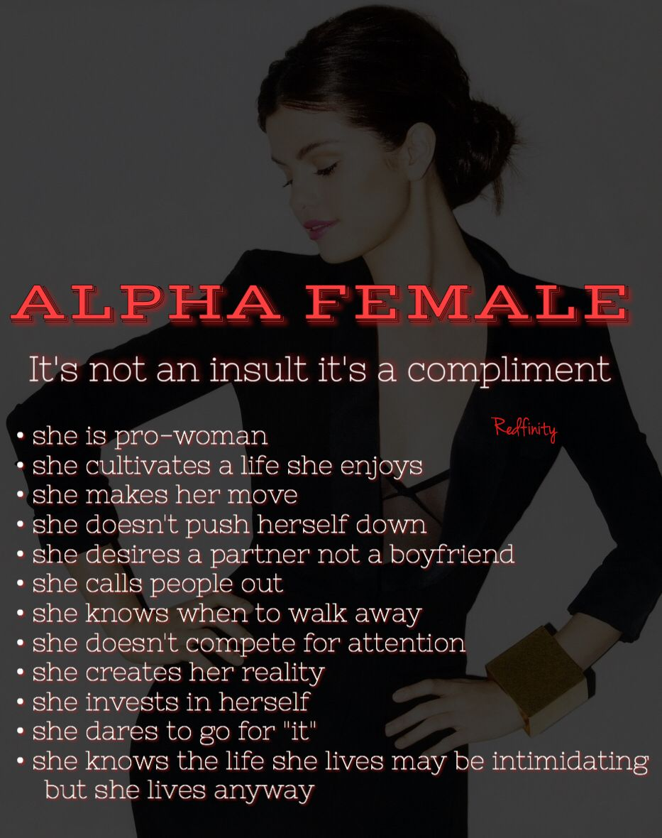 The ultimate alpha female