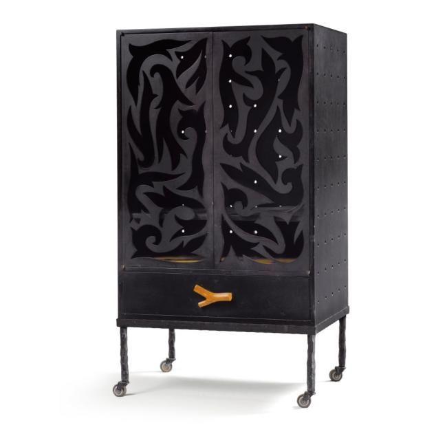 Garouste  Bonetti Meuble à hauteur d\u0027appui, 1987 pour Christian - meuble en bois repeint