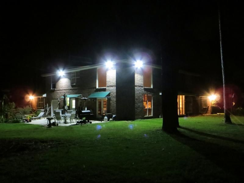 Led Outdoor Flood Light Bulbs Enchanting Led Flood Light Creat A Quiet House In The Evening  Led Flood Light Design Ideas