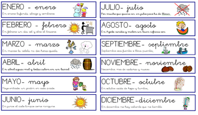 17 Best images about los meses on Pinterest | Blanco y negro ...