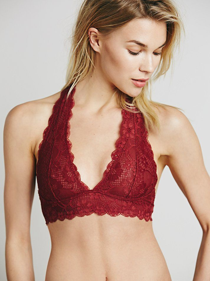 2dd0f6af02ec6c Intimately Free People Galloon Lace Halter Bra at Free People Clothing  Boutique