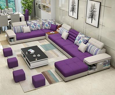 1 Modern Luxury U Type Fabric Sofa My Aashis Living Room Sofa Design Living Room Sofa Corner Sofa Design