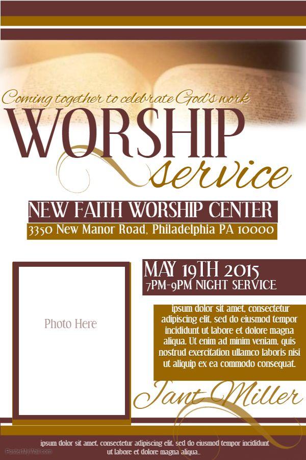 Church Event Flyer Social Media Post Template Church Event Flyer