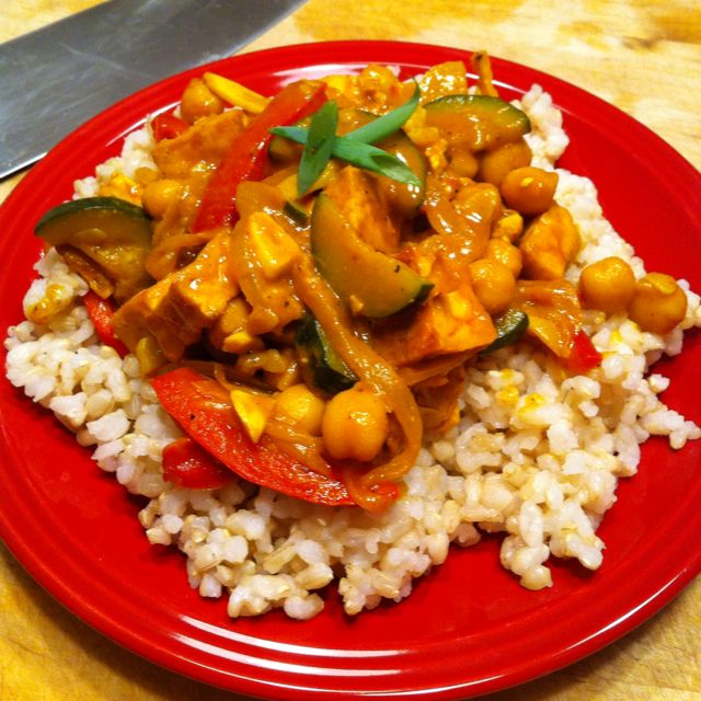 Coconut curry tofu, was very good:) | Recipes-Food & Drink | Pinterest