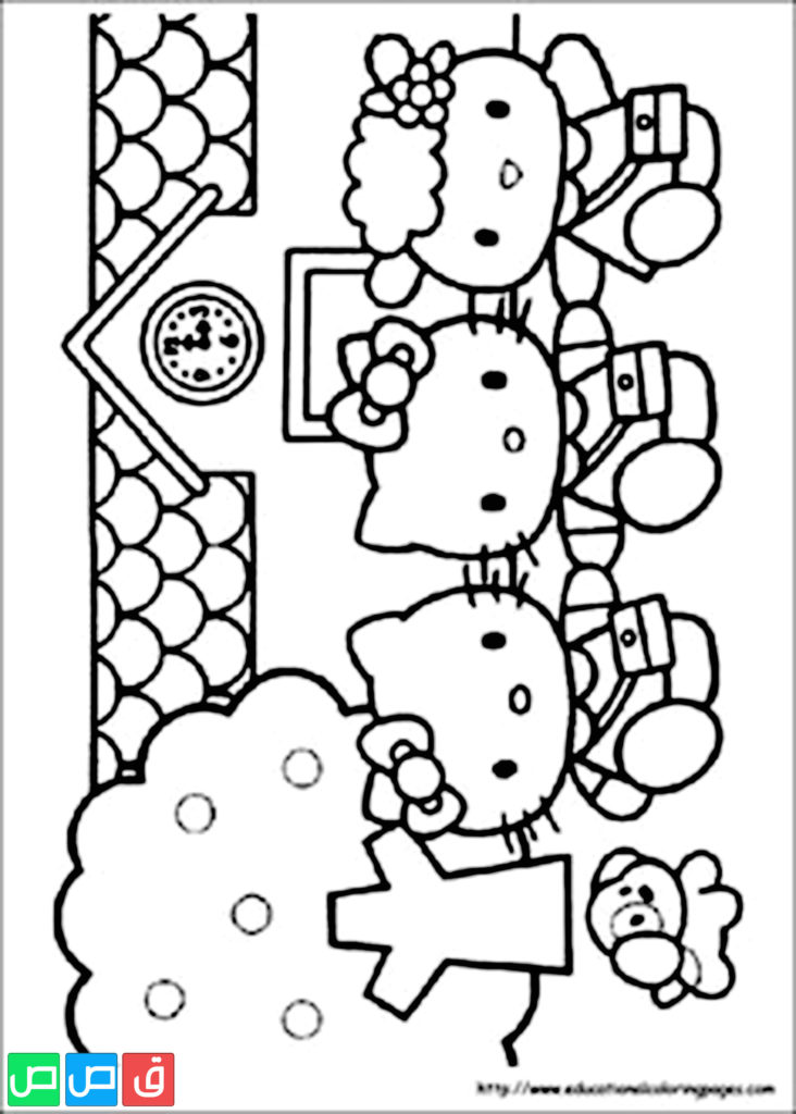 رسومات للتلوين للبنات أكثر من مائة صورة جاهزة للطباعة قصص اطفال Hello Kitty Coloring Hello Kitty Colouring Pages Kitty Coloring