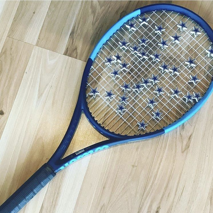 Dallas Cowboys Vibration Dampeners Tennis Racket Tennis Tennis Racquet