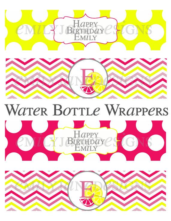 Pink Lemonade Birthday Party Printable by EmilyJaneDesignsInc
