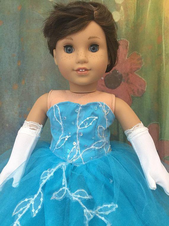 e483f1e09 American Girl Turquoise Princess Quinceanera Prom Dress Set ...