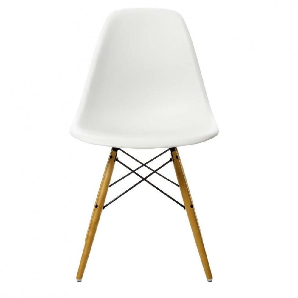 Eames Plastic Side Chair DSW Ahorn Gelblich