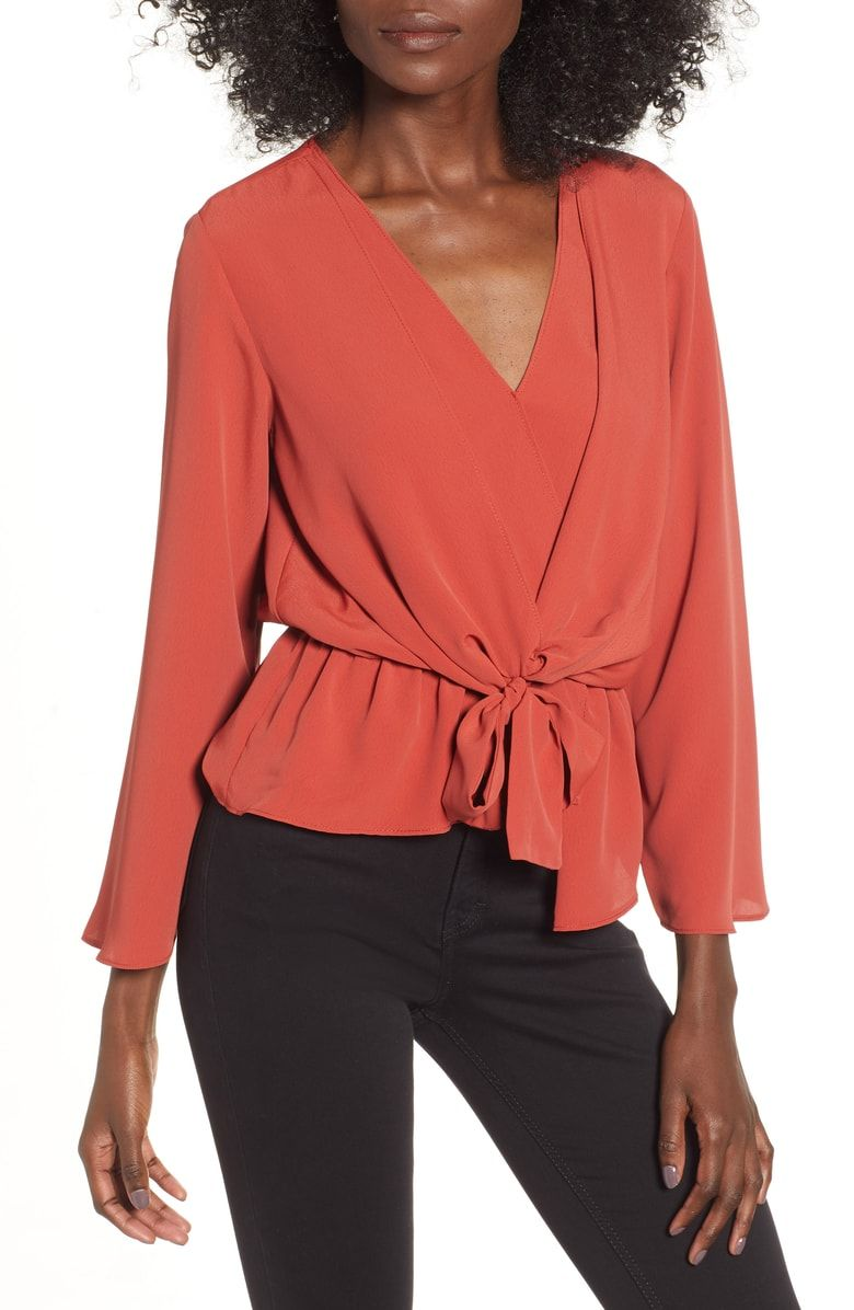 8e275292978a Free shipping and returns on Topshop Tiffany Asymmetrical Blouse at  Nordstrom.com. A drapey