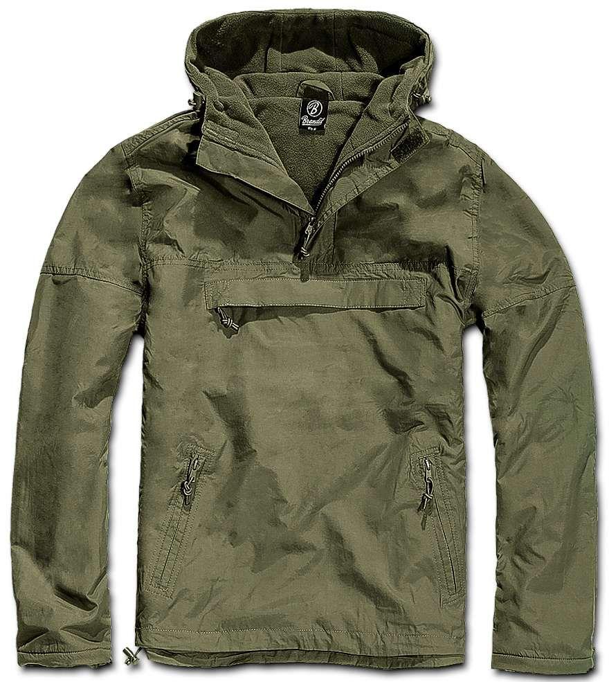 Windbreaker Anorak Brandit Olivna Army Shop Admiral I Want Jaket Gear Tactical Import Tad Campera Rompevientos Clothing Wear Jacket Vest
