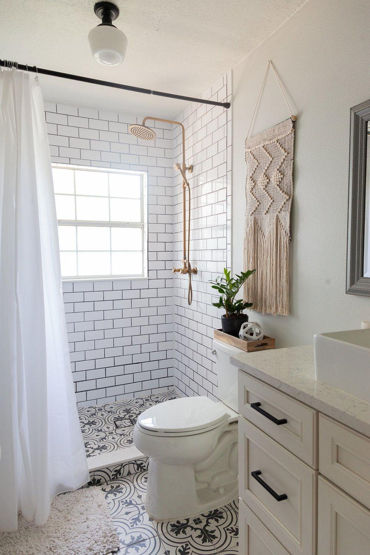 Orlando Interior Designer S Home Renovation Master Bathroom Renovation With White Subway T Small Bathroom Renovations Tile Bathroom Minimalist Small Bathrooms