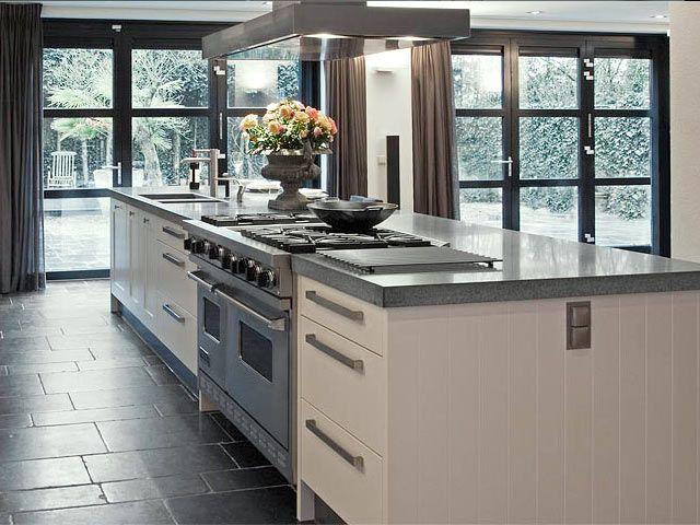 Keukeneiland met tafel keuken eiland tafel keukeneiland met bar inspiraties - Keuken met kookeiland table ...