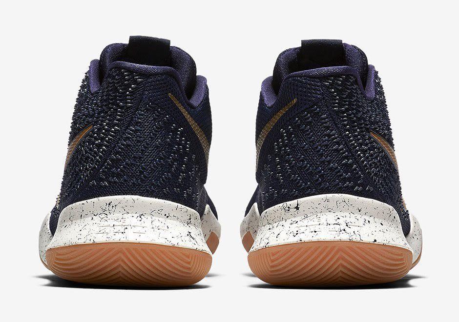 finest selection fd81c ecb16 Nike Kyrie Irving 3 III Navy Blue Gum Obsidian Gold Bright Lights Spotlight  Size