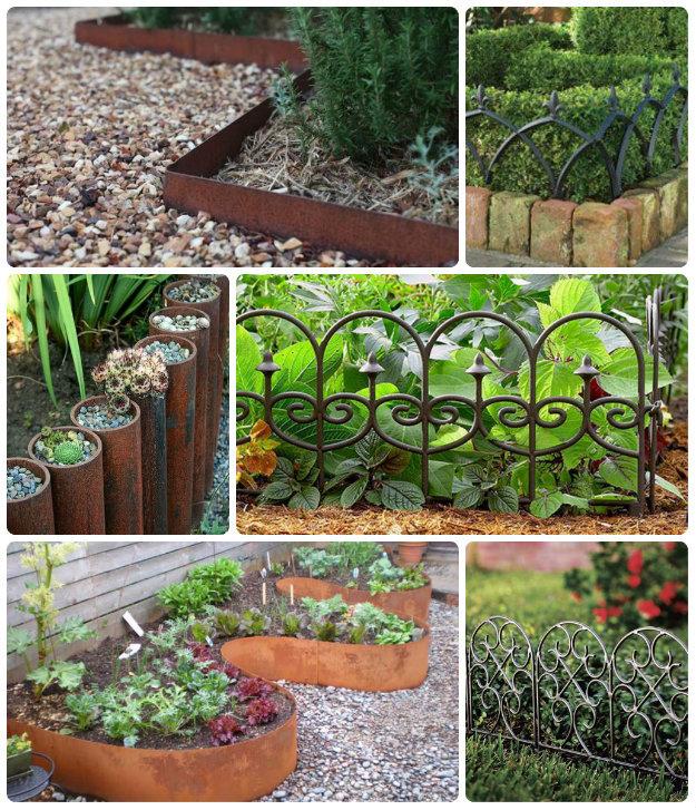60 Flower Bed Edging Ideas Sloped garden, Garden edging