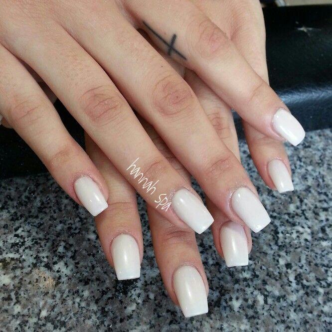 Marshmallow Acrylic Nails Manicure White Manicure