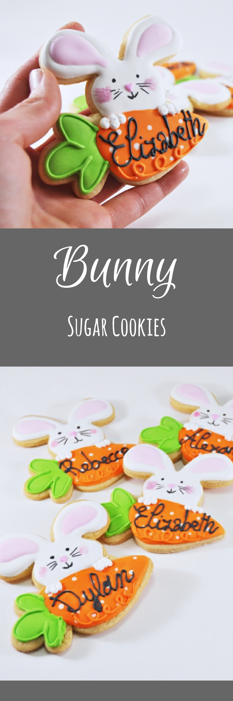 Edible easter place cards easter bunny easter cookies sugar edible easter place cards easter bunny easter cookies sugar cookies happy easter negle Images