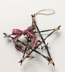 Star barbed wire ornaments christmas crafts country for Country woman magazine crafts