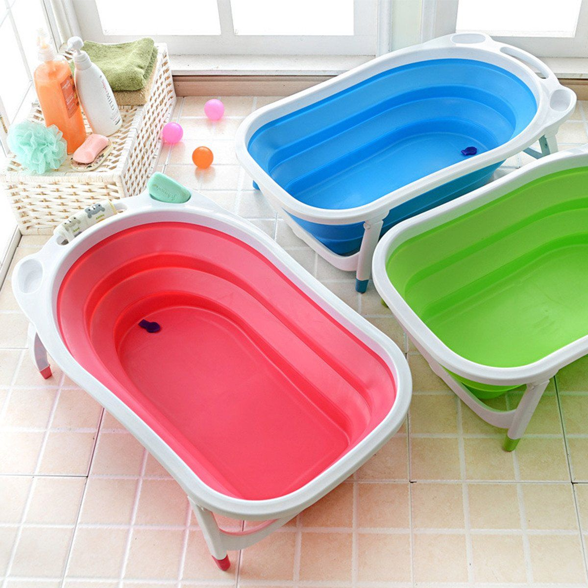 Baby Infant Newborn Bath Bathtub Bathing Folding Safety Foldable Tub Durable Baby Tub Baby Bath Tub Newborn Baby Bath Tub